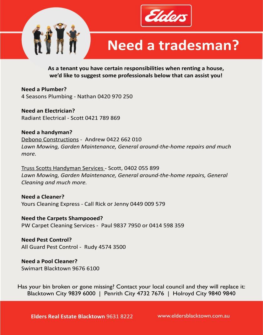 Need a tradesman?